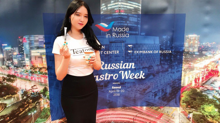 Teatone has presented its tea in stick for the Korean market at Russian Gastro Week Seoul 2018